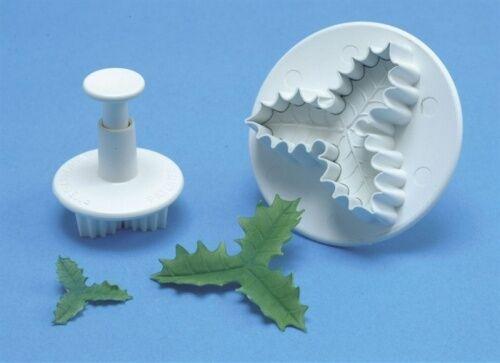 PME qualità TRIPLE HOLLY LEAF stantuffo Cutter-Natale Zucchero Craft & Modellazione