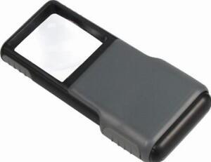 5X magnifier LED light pocket aspheric lens Magnifying glass Jewellery/Read<wbr/>ing