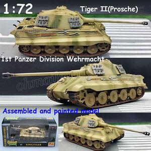 1-72-WW2-German-Tiger-II-1st-Panzer-Division-Wehrmacht-Tank-diecast-Easy-Model
