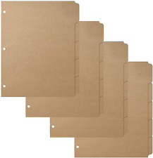 3 Ring Binder Dividers With 5 Tabs For Letter Size 16pt 3 Hole Punched Blank