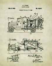 Concrete Cement Mixer Truck Patent Art Print Poster Tools Equipment Toys  PAT241