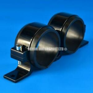 Twin-Fuel-Pump-Bracket-Clamp-60mm-Bosch-Walbro-Sytec-Facet-Aeromotive-Black