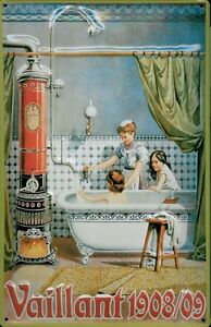 Vaillant 1908 - 1909 Blechschild Schild 3D geprägt Tin Sign 20 x 30 cm A077