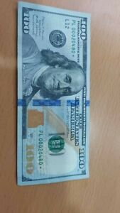 2017A One Hundred Dollar Bill Rare Star Note PL 00020480* Low Serial Number !!