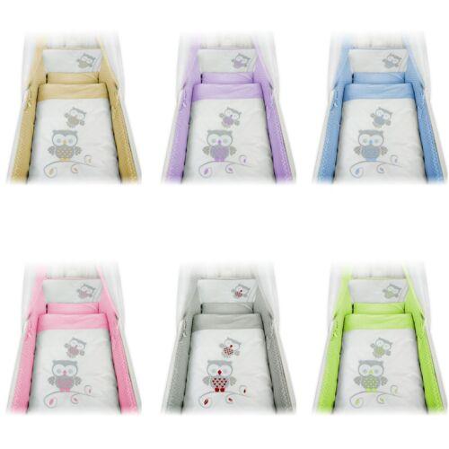 Baby wiegenset lechuza colchón de aplicación para cuna Design selección nuevo color bla