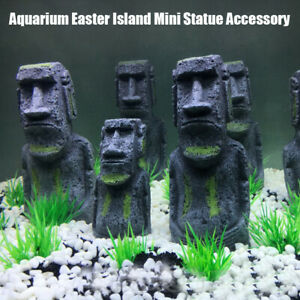Mini-Easter-Island-Statue-Pipe-Fish-Tank-Aquarium-ation-Ornament-t