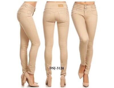 Diva star colombian 3104 med blue rip  levanta cola 10/'/' high waist skinny jean