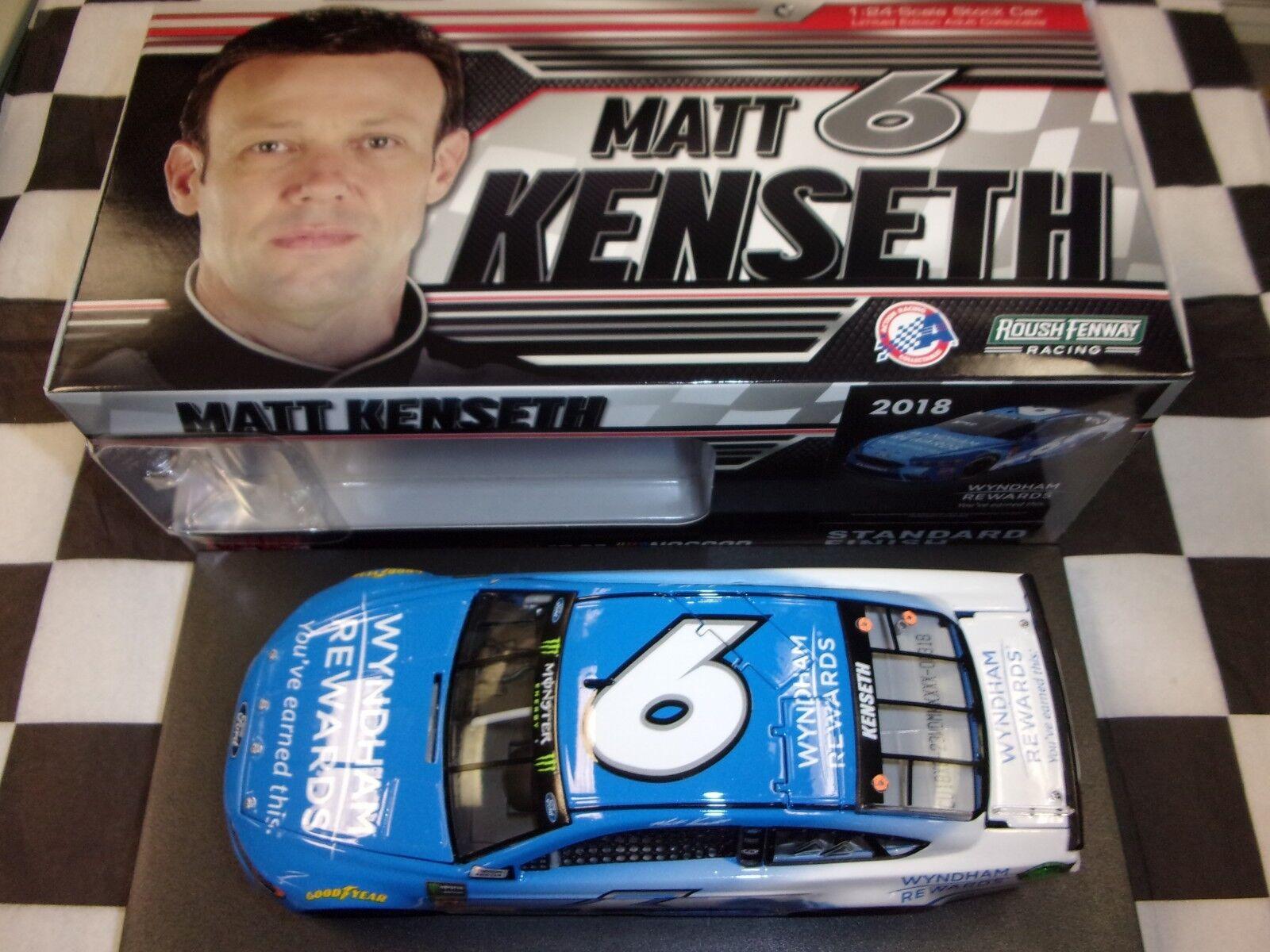Matt Kenseth  6 Wyndham recompensas 2018 fusión acción 1 24 escala de coches nuevo en caja de NASCoche