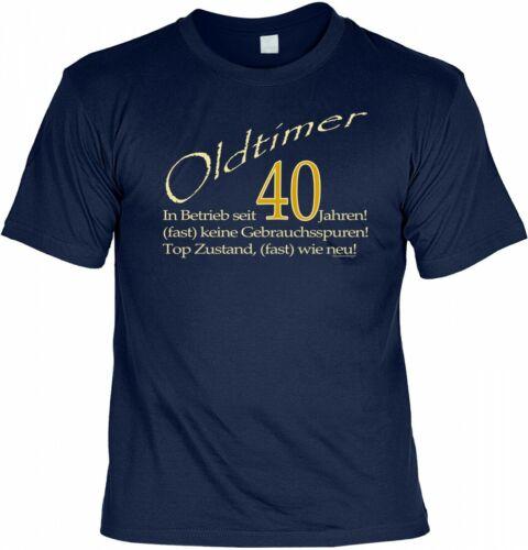 T-shirt-Oldtimer-en service depuis 40 ans-shirt cadeau anniversaire 40.