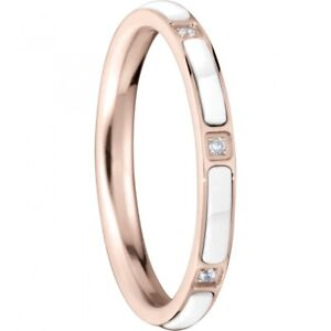 Bering-Stack-Ring-Stainless-Ceramic-Link-Rose-White-Narrow-Arctic-Symphony