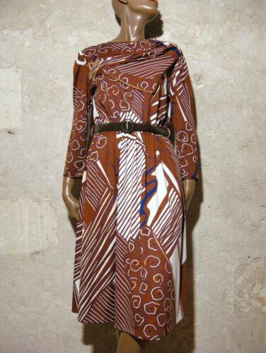1980 Dress 80s True Mod 40 Vintage Chic Kleid Robe 38 Abito Graphic Vtg 80er YZwXEn6q