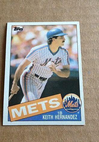 1985 Topps Keith Hernandez 80 Baseball Card