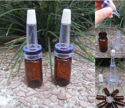 3ml Amber Glass Bottles/Vials W/Trumpet dropper,Storing Display Sample Bottles