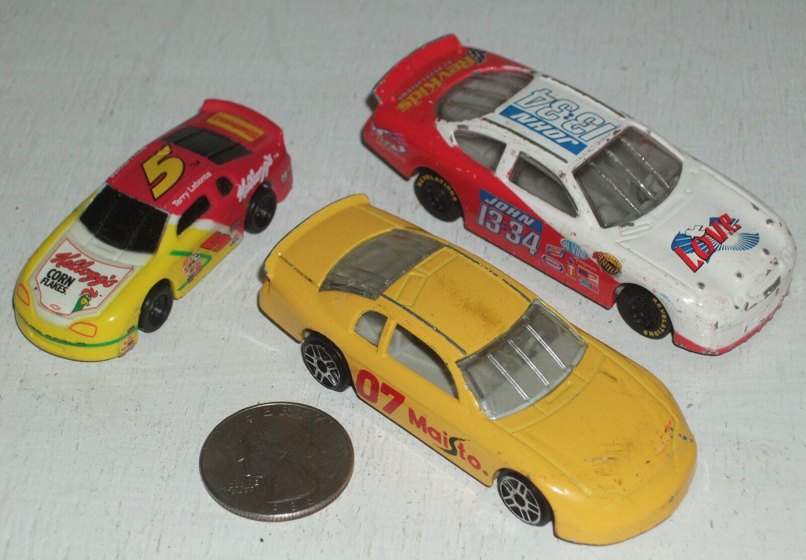 Diecast 3-pc NASCAR Race Car Group #2 USED approx 3 See Photo ...