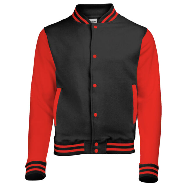 COOL VARSITY JACKET BASEBALL LETTERMAN LARGE CHOICE OF SIZE AND COLOUR UNISEX