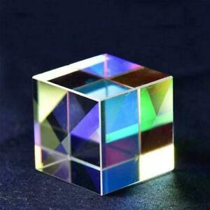 Optical-Glass-X-cube-Dichroic-Cube-Prism-RGB-Combiner-Teaching-Splitter-Sch-CL