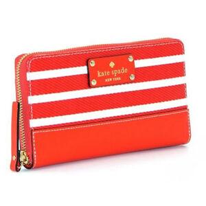 Kate Spade Wallet WLRU 2090 Wellesley Fabric Neda Empire Red Agsbeagle Paypal