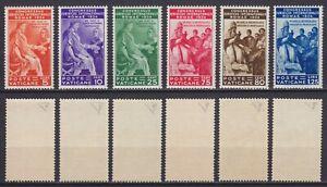 """Vaticano 1935 """"Congresso Giuridico"""" 41-46 serie nuova MNH** g. integra E. Diena"""