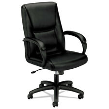 Basyx Vl161sb11 Upholstered Executive High Back Leather Chair Black New