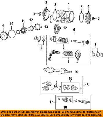 19259473 OEM Rear Axle Seal 1997-2013 Chevrolet Corvette 04-09 Cadillac XLR