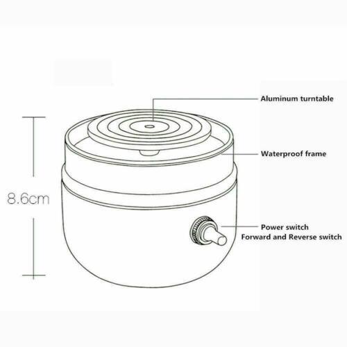 DIY 12V Mini Electric Pottery Wheel Ceramic Machine 6cm Work Clay Art Craft