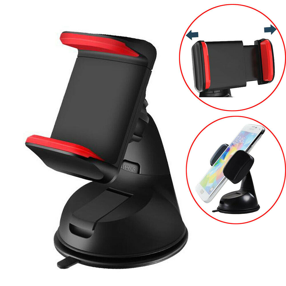 360 In Car Mobile Phone Holder Universal Mount Windscreen Dashboard Suction Home 10