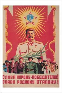 Image Is Loading Vintage Soviet Union Era PROPAGANDA POSTER WITH STALIN
