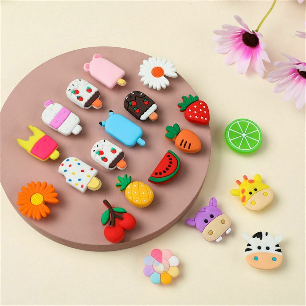 Charms For Hole Shoes Shoe Accessories Cartoon Flowers Decoration Buckle DIY