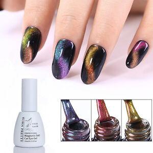 Chameleon soak off uv gel polish nail art 3d cat eye magnet image is loading chameleon soak off uv gel polish nail art prinsesfo Image collections