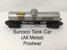 Lionel 6555 Deluxe Postwar All Metal Single-dome Sunoco Tank Car O Gauge