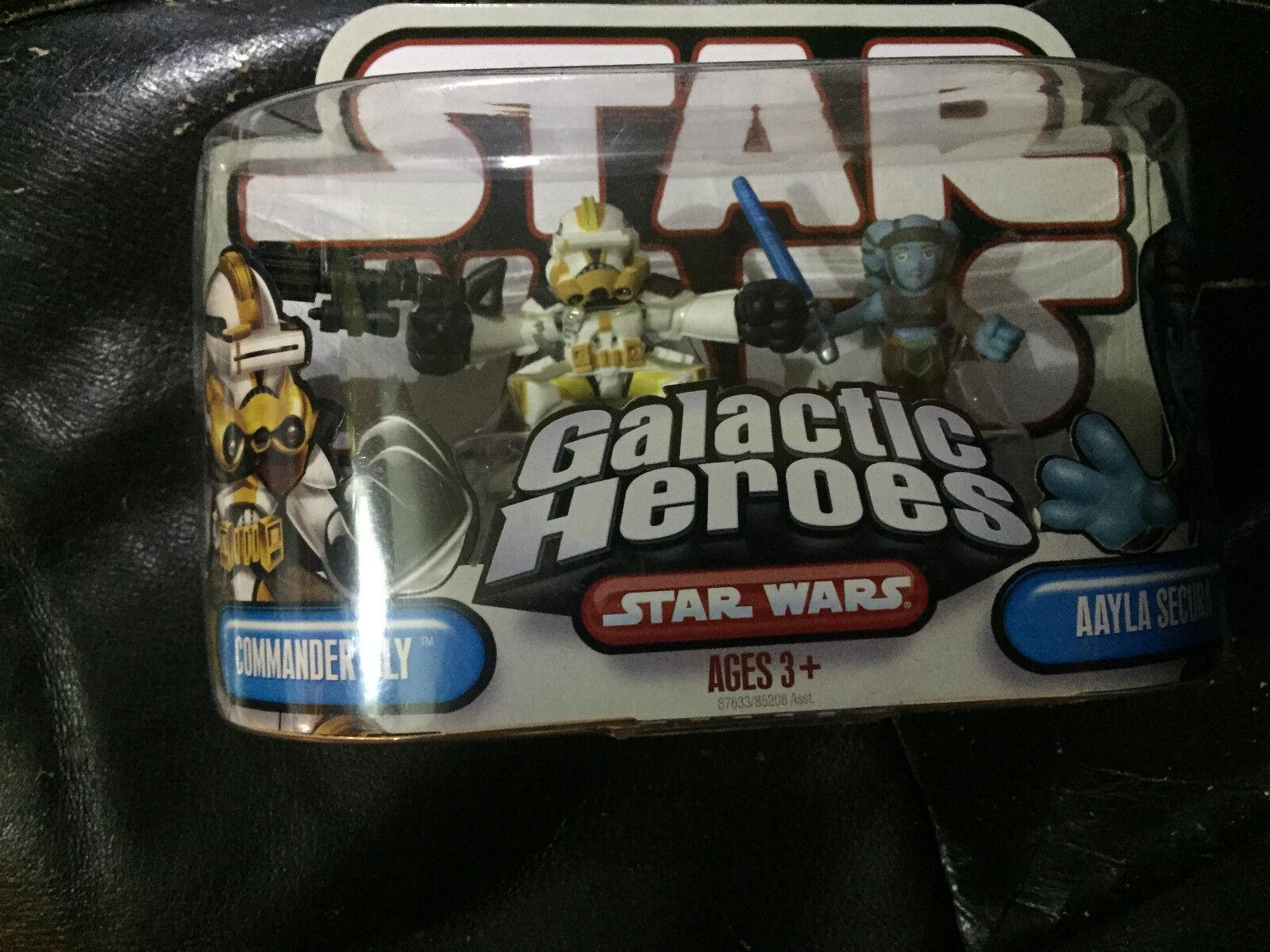 Star Star Star Wars Galactic Heroes Commander Bly & Aayla Secura--new 8c4d1c