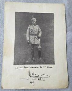 Portraitfoto mit Original Unterschrift und Widmung von Kaiser Wilhelm II, TOP!