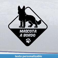 Pastor alemán  a bordo Perro  mascota Vinilo adhesivo Pegatina Sticker
