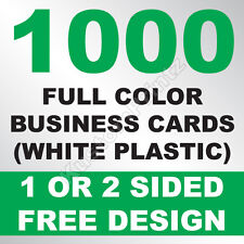 1000 CUSTOM FULL COLOR PLASTIC BUSINESS CARDS | ROUNDED CORNERS | FREE DESIGN