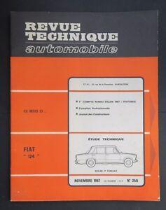 REVUE-TECHNIQUE-AUTOMOBILE-RTA-FIAT-124-SALON-1967-n-259