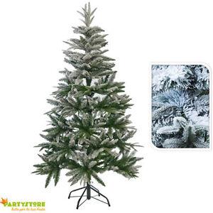 Albero Di Natale Ebay.Albero Di Natale 150 Cm Innevato Artificiale Folto Pino Con Neve Realistico Ebay