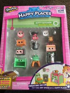 NEW-MOOSE-SHOPKINS-HAPPY-PLACES-Kitty-Kitchen-DECORATOR-039-S-PACK-100-Feedback