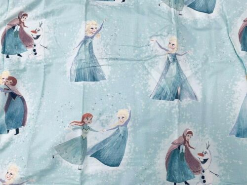 Pottery barn Kids Frozen Twin Duvet Cover only Mint snow