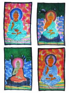 BUDDHA-Batiktuch-Wandbehang-Stofftuch-75x105-cm-Hinduismus-Siddhartha-Budda-Buda