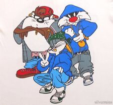 LOONEY TUNES Vintage T Shirt 90's RAP HIP HOP Bugs Bunny TAZ Sylvester