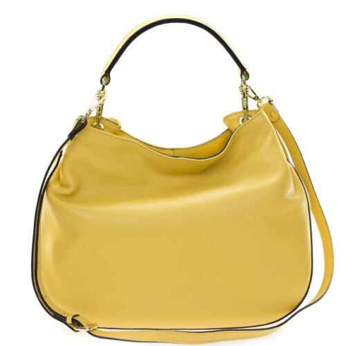Made schoudertas Medium Gianni Hobo Italian Chiarini Leather Banana Yellow QhsCtrd