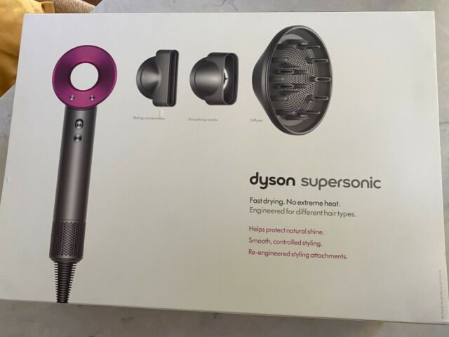Dyson Supersonic Hair Dryer and diffuser, Iron/Fuchsia, 1200W