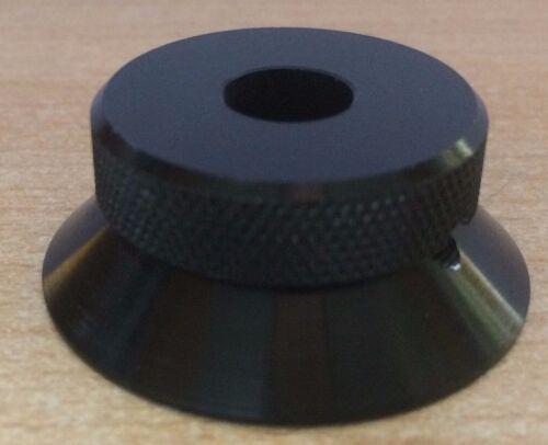 5609//A//B H37 Manopola in Alluminio Nero con foro centro zigrinato Jackson BROS N