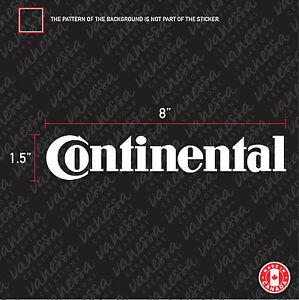 2X CONTINENTAL TIRE BRAND CAR sticker vinyl decal