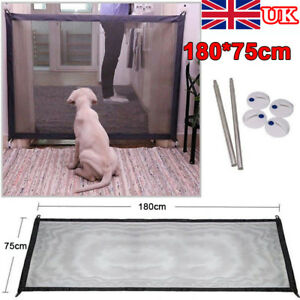 Safe Magic Gate Portable Folding Safety Guard For Pets Dog Cat Isolated Gauze UK