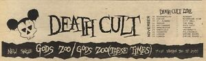 5-11-83PN12-ADVERT-DEATH-CULT-SINLGE-GODS-ZO0-THESE-TIMES-3X11
