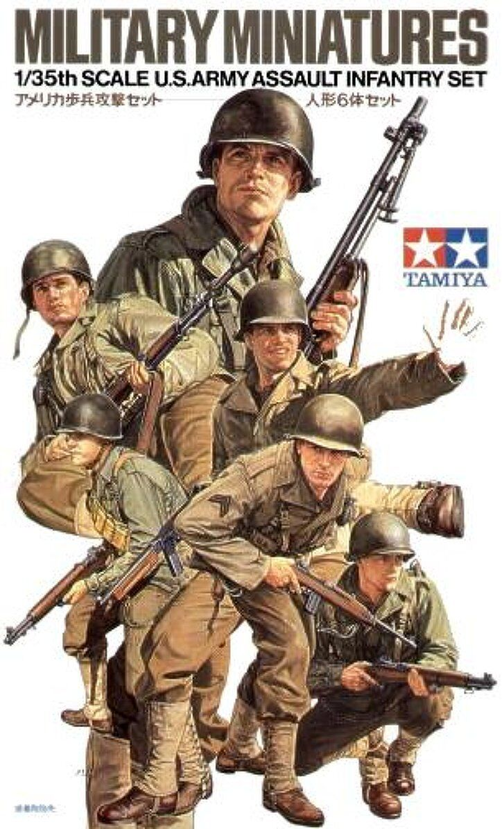 Tamiya Military Miniatures 1 35 US Army Assault Infantry Set Job Lot(10 kits)