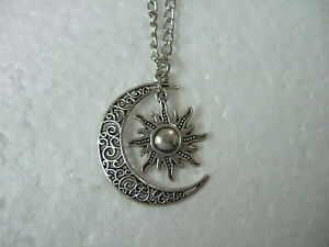 Crescent-Moon-And-Sun-Necklace-Vintage-Crescent-Moon-Sun-Charm-Pendant-18-034-Gift