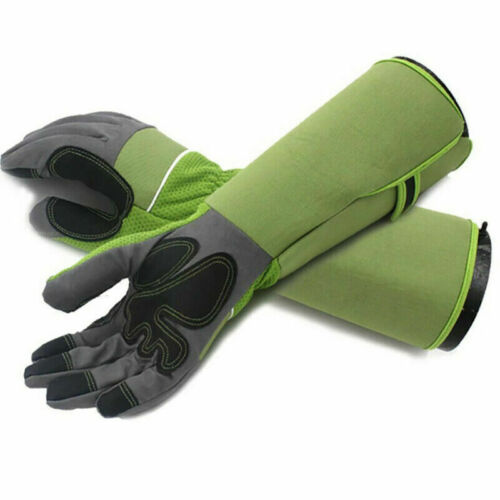 Professional Rose Pruning Thornproof Gardening Long Gloves Forearm Protection #A