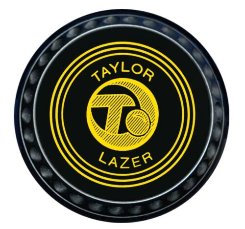 Taylor Lazer Indoor/Lawn Bowls - Heavy - Black - Set Of 4